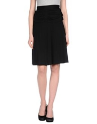 Beayukmui Knee Length Skirts Black