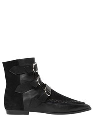 Isabel Marant 10Mm Rowi Leather And Suede Boots