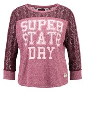 Superdry Long Sleeved Top Rugged Rich Berry Bordeaux