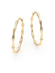 Gucci Bamboo 18K Yellow Gold Hoop Earrings 1.5