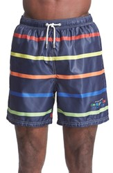 Men's Paul And Shark 'Competition Collection' Stripe Swim Trunks