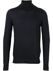 Paolo Pecora Turtleneck Fine Knit Jumper Grey