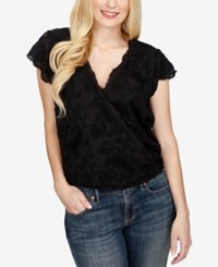 Lucky Brand Embroidered Short Sleeve Top Lucky Black