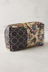 Anthropologie Hermitage Cosmetic Case Navy