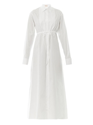 Azzedine Alaia Cotton Poplin Shirt Dress
