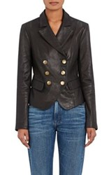 L'agence Women's Sorel Leather Blazer Black