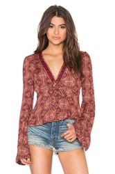 Free People Time Of Your Life Top Red
