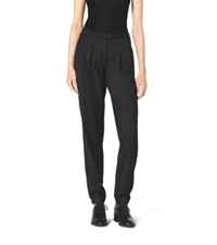 Michael Kors Wool Blend Track Pants Black