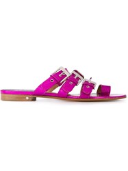 Laurence Dacade Buckled Sandals Pink And Purple