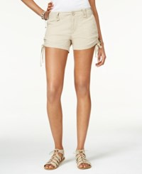 American Rag Ruched Side Shorts Only At Macy's Khaki