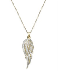 Wrapped Diamond Wing Pendant In Yellora 1 6 Ct. T.W.