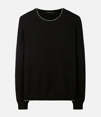Christopher Kane Neon Trim Sweater Black