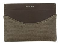 Skagen Torben Card Case Olive Credit Card Wallet