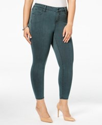Celebrity Pink Trendy Plus Size Colored Wash Jeggings Botanical Garden
