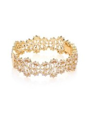 Adriana Orsini Ophelia Faceted Bangle Bracelet Gold