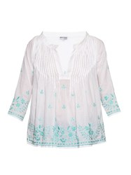 Juliet Dunn Hand Embroidered Cotton Shirt