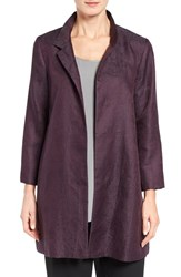 Eileen Fisher Women's Gypsum Jacquard Stand Collar Coat Raisonette