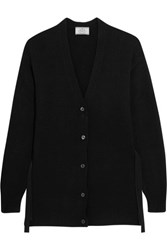 Prada Wool And Cashmere Blend Cardigan Black