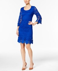 Alfani Petite Crochet Shift Dress Only At Macy's Modern Blue