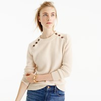 J.Crew Italian Cashmere Waffle Sweater With Buttons