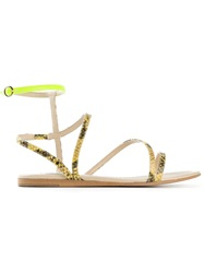 Stella Mccartney Strappy Sandals Yellow And Orange