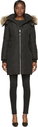 Mackage Black Long Down Fur Hood Eileen Coat