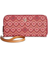 Giani Bernini Graphic Signature Slim Wallet Only At Macy's Wine Multi
