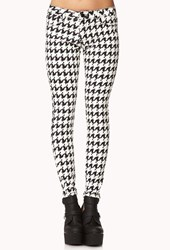 Forever 21 Pixilated Houndstooth Skinny Jeans
