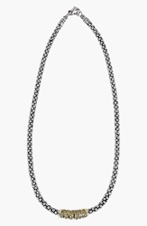 Lagos 'Embrace' Diamond And Caviar Rope Necklace Online Exclusive Silver Gold