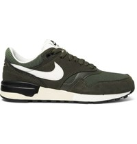 Nike Air Odyssey Leather Mesh And Nubuck Sneakers Green