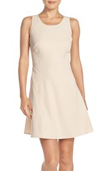 Women's Marc New York Scoop Neck Crepe Fit And Flare Dress Blush