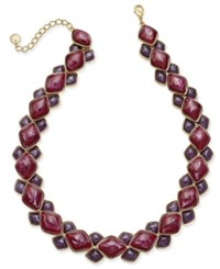 Charter Club Gold Tone Geometric Stone Collar Necklace Only At Macy's