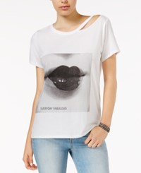 Guess Ripped Graphic T Shirt Twht Open