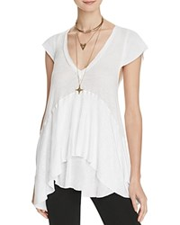 Free People Ribbed Babydoll Top White
