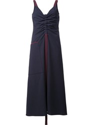 Ellery V Neck Sleeveless Dress Blue