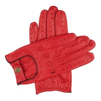 Dents Mens Classic Leather Driving Gloves Red