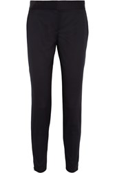 Stella Mccartney Velez Wool Twill Skinny Pants Blue