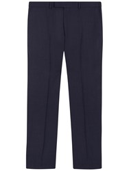 Jaeger Super 130S Wool Regular Fit Suit Trousers Navy