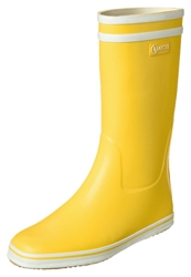 Aigle Malouine Wellies Jaune Blanc Yellow