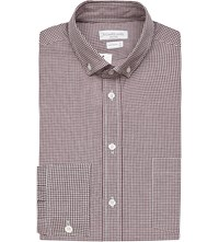 Richard James Gingham Cotton Oxford Shirt Claret