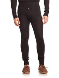 Hanro Wool And Silk Long Leg Layering Pants Black
