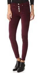 Mcguire Newton Skinny Pants With Exposed Button Fly Pinot