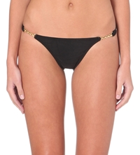 Vix Swimwear Gold Chain Bikini Briefs Black
