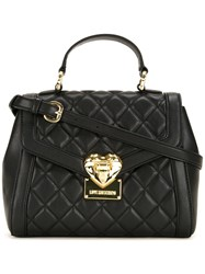 Love Moschino Small Quilted Tote Black