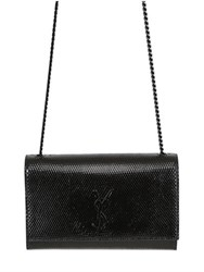 Saint Laurent Monogram Embossed Shiny Leather Bag