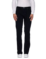 Jaggy Trousers Casual Trousers Men Dark Blue