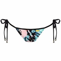 Look Z Swimwear Viper Snake Bow Bandeau Bikini Bottom Blue