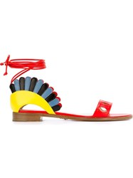 Paula Cademartori 'Lotus' Sandals Multicolour