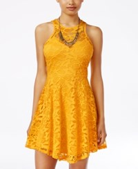 Material Girl Juniors' Lace Skater Dress Only At Macy's Daffodil
