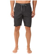 Vissla Fin Box 4 Way Stretch Heathered Boardshorts 20 Black Men's Swimwear